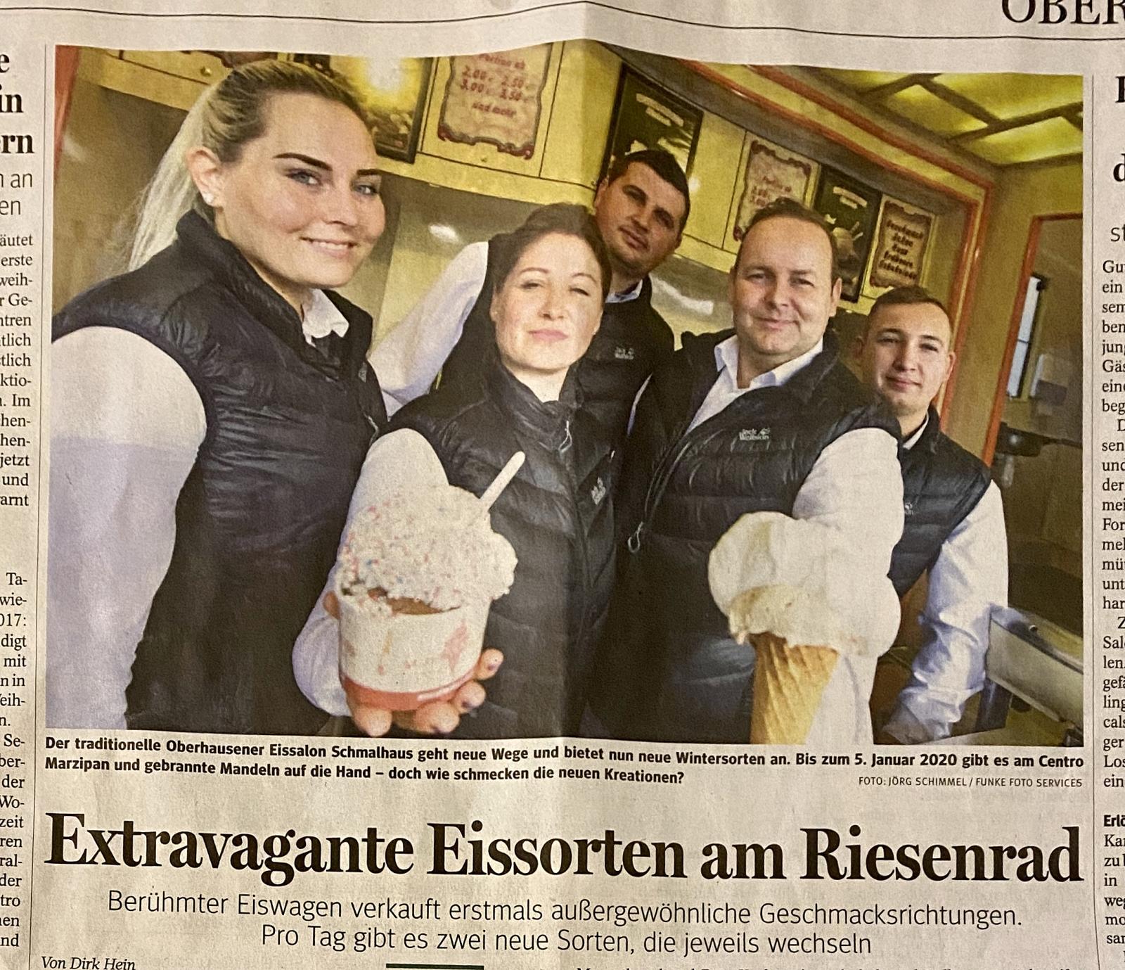 Extravagante Eissorten am Riesenrad