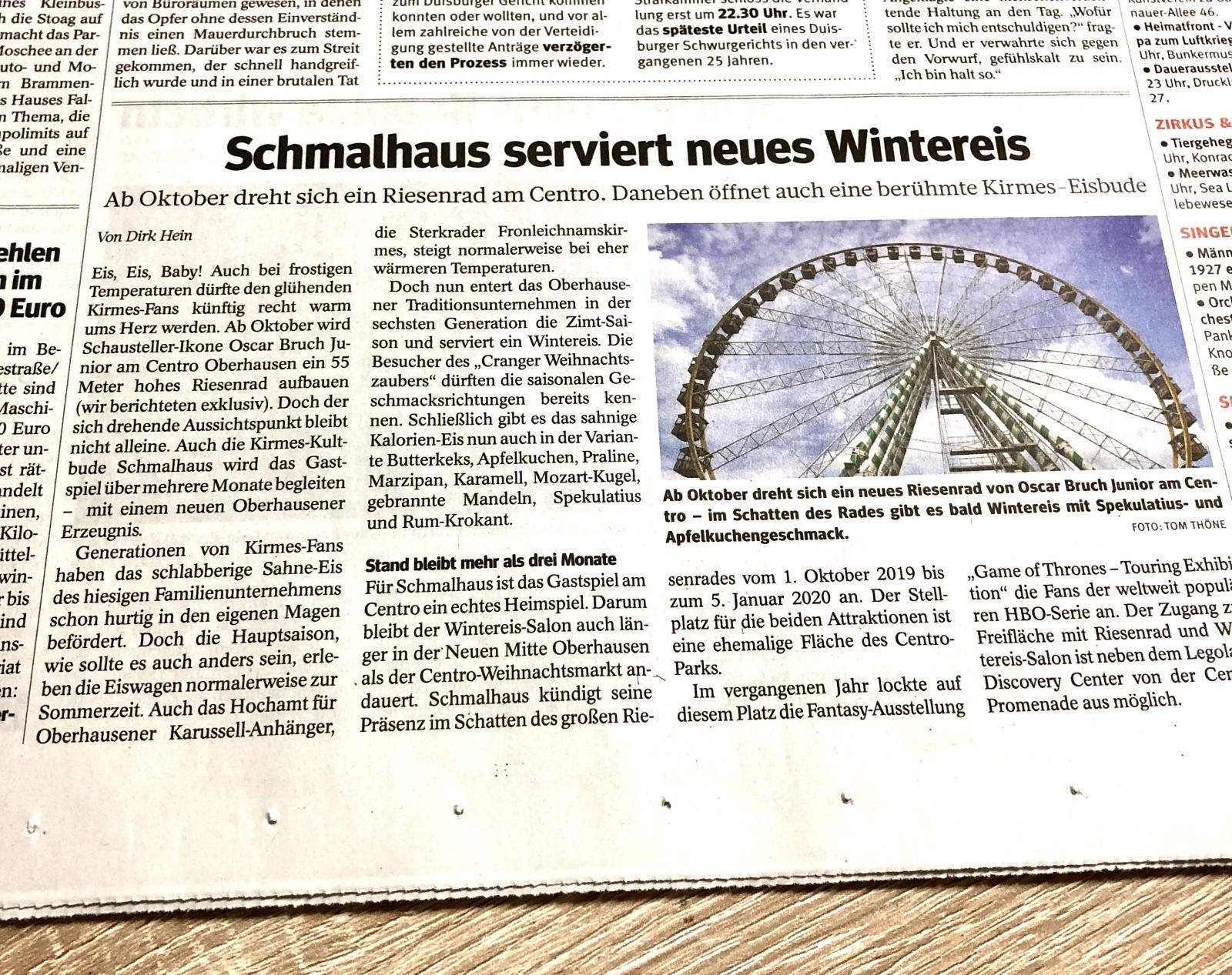 Schmalhaus serviert neues Wintereis