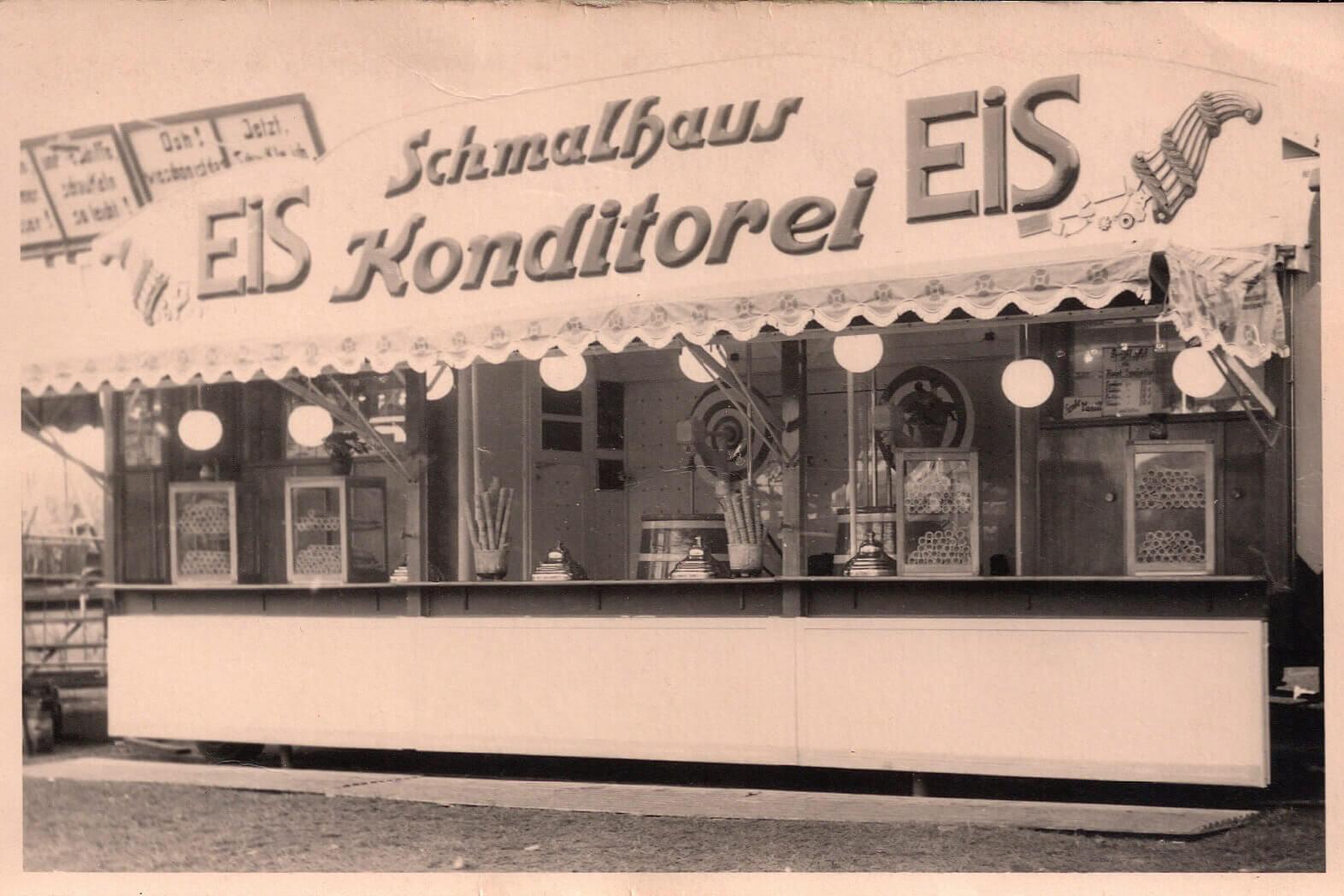 Schmalhaus Eis historisch Eiskonditorei 50er Jahre