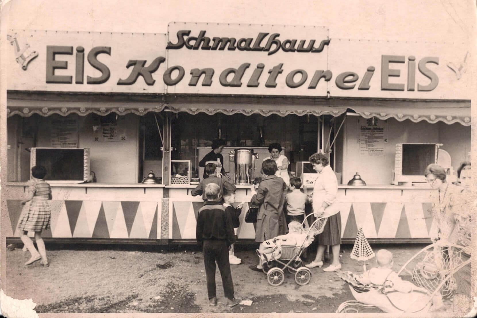 Schmalhaus Eis historisch Eiskonditorei 60er Jahre
