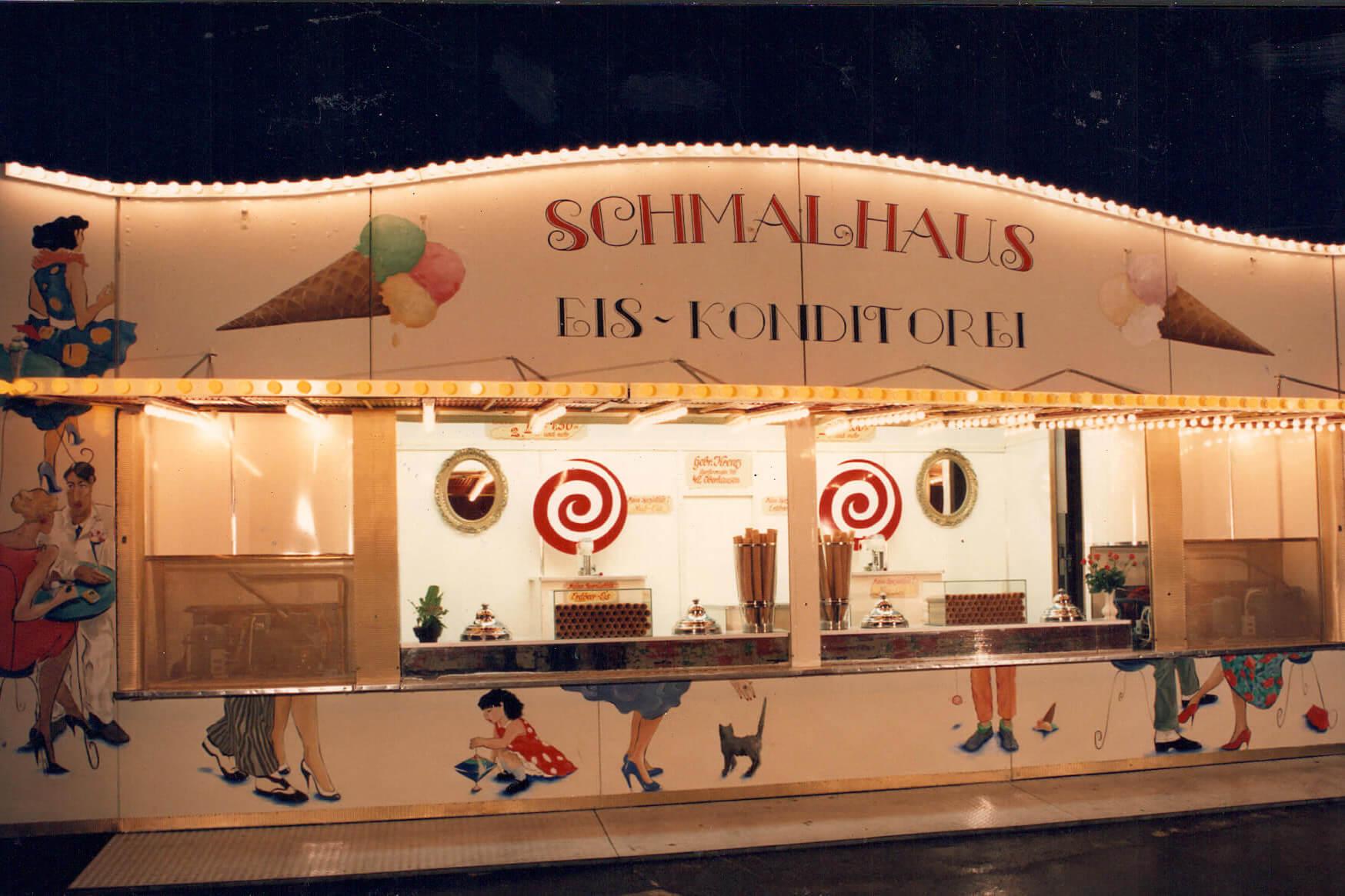 Schmalhaus Eis historisch Eiskonditorei 80er Jahre